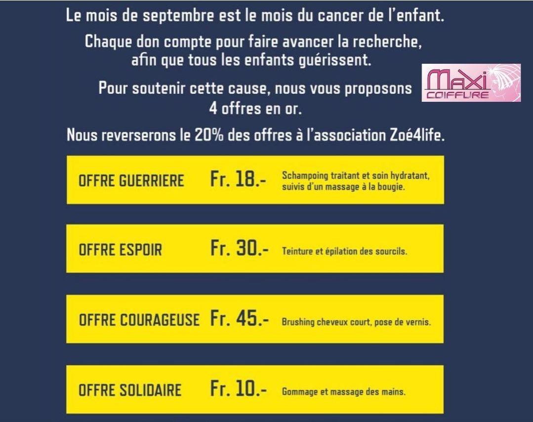 Zoé4life septembre en OR - Maxi Coiffure