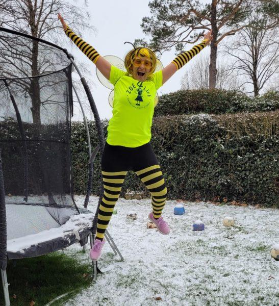 Marlène va courir 150km durant le mois de mars tout en étant déguisée !